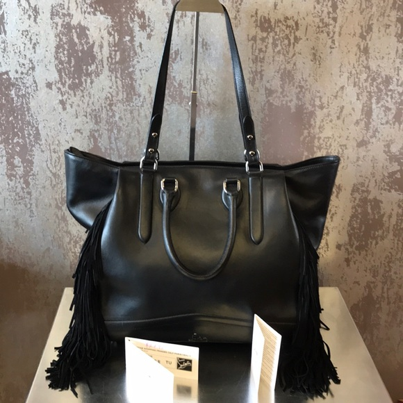 f1aa1514a5 Christian Louboutin Handbags - Louboutin Justine Shopping Fringes Calf  Paris/Veau